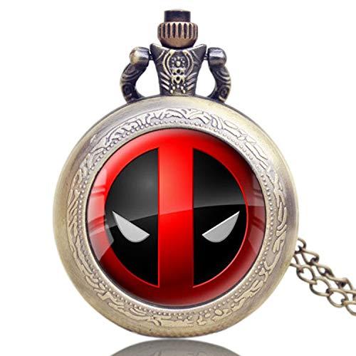Reloj de Bolsillo con diseño de cómic, Estilo Americano, de la Marca Deadpool, para Hombres y Mujeres, Reloj de Bolsillo con Dibujos Animados para Regalo