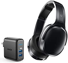 Skullcandy Crusher ANC Personalized Noise Canceling Wireless Bluetooth Headphone Bundle with Anker 2-Port Wall Charger - Black