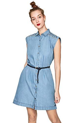 Pepe Jeans Dora Vestido, Azul (Blue 551), Small para Mujer