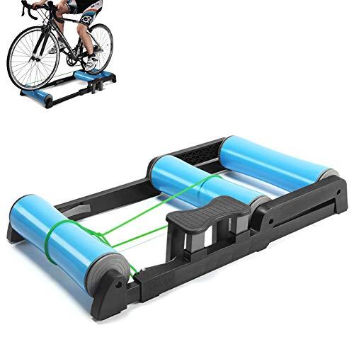 HYHY 700C Entrenador De Bicicleta Plegable, Rodillo para Interiores, Silencioso, Bajo Nivel Ruido Entrenamiento Ejercicio En Interiores Compatible (24-29 Pulgadas)