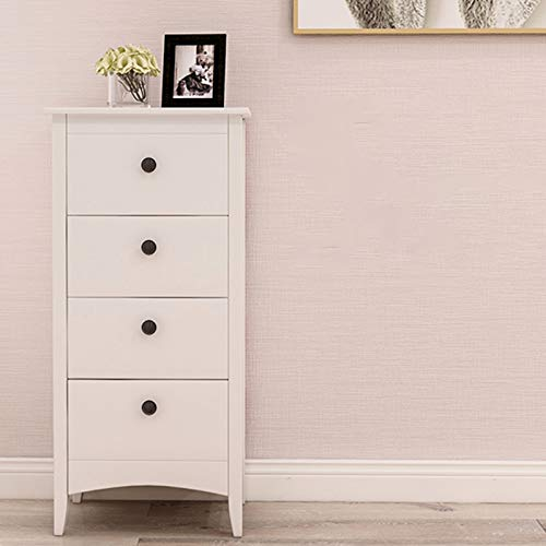 ENticerowts Multifunctional Dresser Storage Cabinet Modern Stylish Home Bedroom/Living Room Decoration with 4 Drawers White