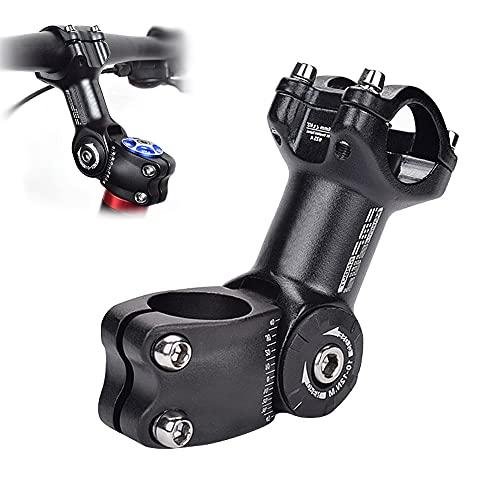 GoHZQ Bike Verstellbarer Vorbau ± 60 ° 31,8mm/25,4mm 90mm Fahrrad Lenkervorbau Aluminiumlegierung Fahrrad Vorbauten Riser für Mountainbike, Rennrad, MTB, BMX