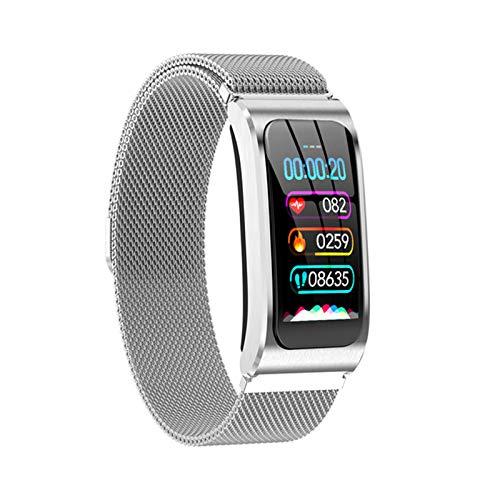 LVF Smart Watch AK12 Smart Muñequera IPS Pantalla De Color Bluetooth Fitness Pulsera para Hombres Y Mujeres Monitor De Actividad De La Presión Arterial para Android iOS,B