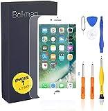 bokman LCD Pantalla para iPhone 7, Táctil LCD Reemplazo con Herramientas de Reparación (Blanco)