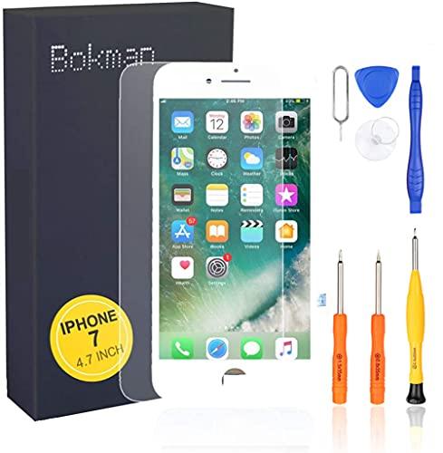 bokman para el iPhone 7 piezas de repuesto de pantalla blanca Asamblea frontal