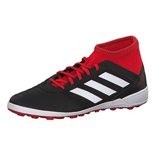 Adidas Predator Tango 18.3 TF, Botas de fútbol para Hombre, Negro (Negbás/Ftwbla/Rojsol 001), 42 EU