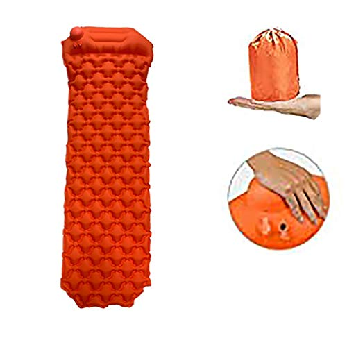 Bar Stools Sleeping Pad, Lightweight,Hand Press Inflatable Camping Mat with Pillow Comfort Best for Backpacking, Camping, and Hiking, Inflatable Camp Sleep Pad