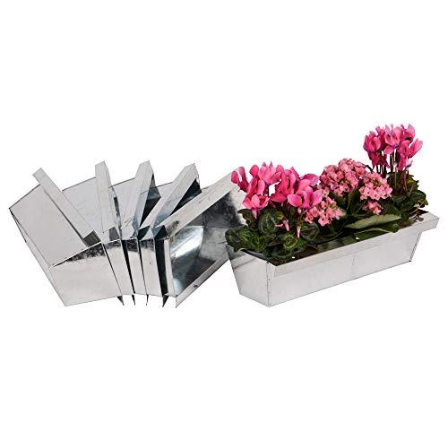 Nature by Kolibri Blumenkasten mit Aufhängung Set Balkonkasten Einsatz passend für Europaletten für Blumen, Kräuter und Früchte 6 Stück 38cm