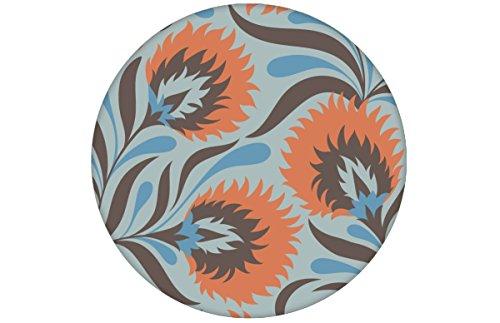 Üppige hellblaue Designer Jugendstil Tapete mit großen Blüten passt zu Little Greene Farben - Blumentapete - GMM Design Deko für edle Wände (Muster 20 x 46,5cm)