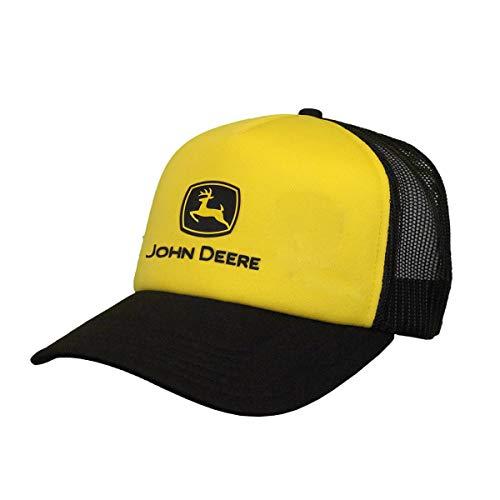 john deere mesh hats John Deere Foam Trucker Mesh Hat W/Black Logo, Yellow, Yellow/Black, One Size