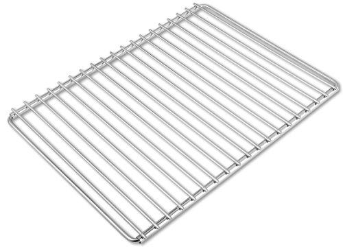 Edelstahl-Grillrost mit verstellbarer Breite 40-55X30cm aus Europäischem Edelstahl, Grillrost Verstellbar, Grillrost Rostfrei