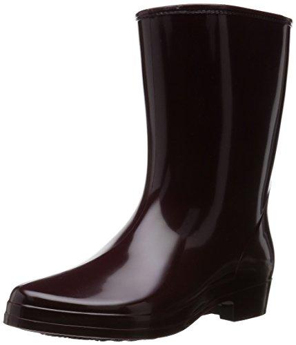 [アキレス] レインブーツ 長靴 作業靴 レインシューズ 日本製 E レディース HLB 3100 ワイン 24.5