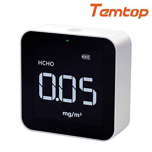 emtop M10 Luftqualitätsmonitor für PM2.5 HCHO TVOC AQI Professional elektrochemischer Sensor Detektor Echtzeit-Anzeige wiederaufladbarer Akku 【3 Jahre Garantie】