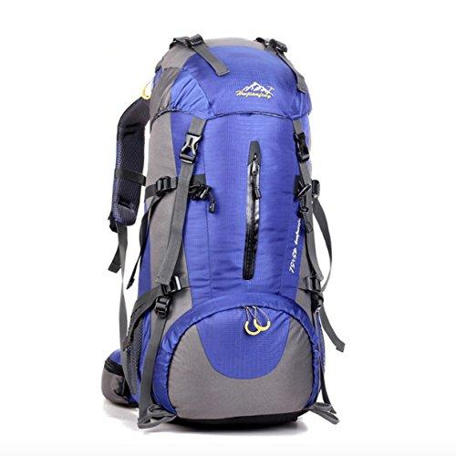 Cartable Sac à Dos de Camping Alpinisme extérieur Professionnel 50L, Bleu