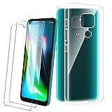 PZEMIN Handyhülle für Motorola Moto G9 Play Hülle + 2X