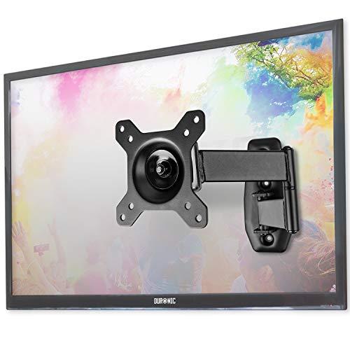 Duronic TVB1120 Soporte TV de Pared Ultra Delgado Inclinable y Giratorio para Pantallas, LED, LCD, Plasma, Curvada, Monitor de 13' a 30' Pulgadas hasta 18 kg de Peso - Montaje SOLO Compatible con VESA 100 - VESA 75