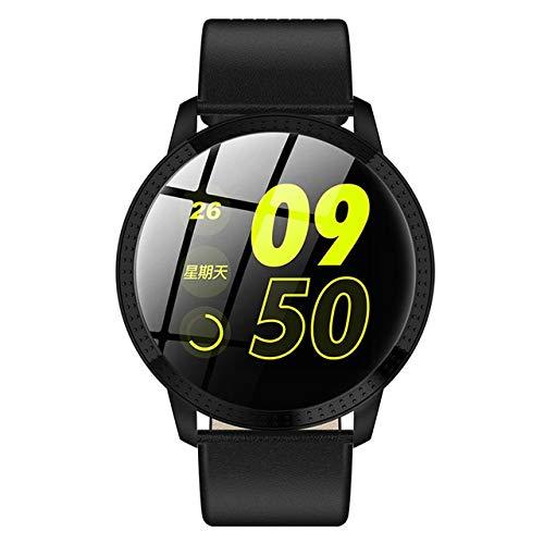 ZTYY Reloj de señoras de Las Mujeres del Reloj Inteligente Deporte LED Digital Relojes de Pulsera electrónica de la Marca Mujeres del Reloj de Pulsera de Mujeres (Color : Black)