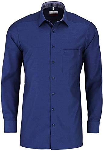 Marvelis Modern Fit Hemd Langarm New Kent Kragen Muster blau Größe 42