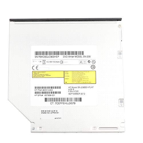 Surebuy Dispositivo De Unidad óptica De DVD, Instalación Gratuita Compatible con Varios Formatos Grabadora De DVD para Leer CD, DVD, VCD Y Otros Formatos para PC Portátil