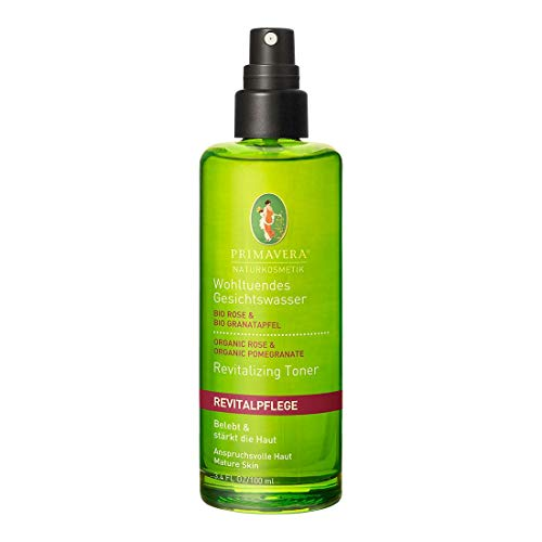PRIMAVERA Revitalpflege Wohltuendes Gesichtswasser Rose Granatapfel 100 ml - Naturkosmetik - belebend und stärkend für anspruchsvolle, reife Haut - vegan -