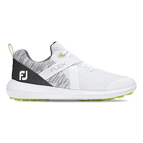 FootJoy Men's Flex Golf Shoes White 10.5 M Grey, US