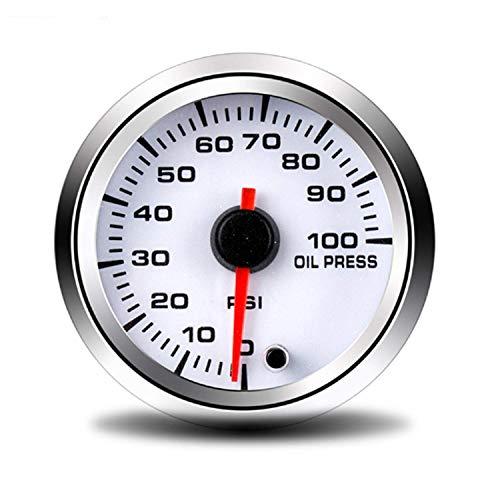 LILICEN '52 mm Manómetro de Aceite 0~100 PSI con el Sensor Prensa de Aceite calibrador del Metro del Coche for el Coche del Carro del Barco