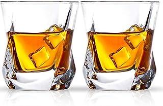Cooko whiskyglas, lyxiga kristallglasögonsats, icke-blyade klarglasögon, vintillbehör set med 2 glas för vin, cocktails el...