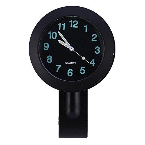 Reloj de montaje en manillar Universal 7/8'-1' Moto impermeable Reloj de montaje en manillar Reloj incandescente Reloj de manillar para motocicleta