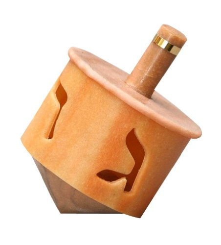 Why Choose Hanukkah Chanukkah Dreidel, Stripes, Orange, Beige, Cut Out Lettering, Rounded Shape Desi...