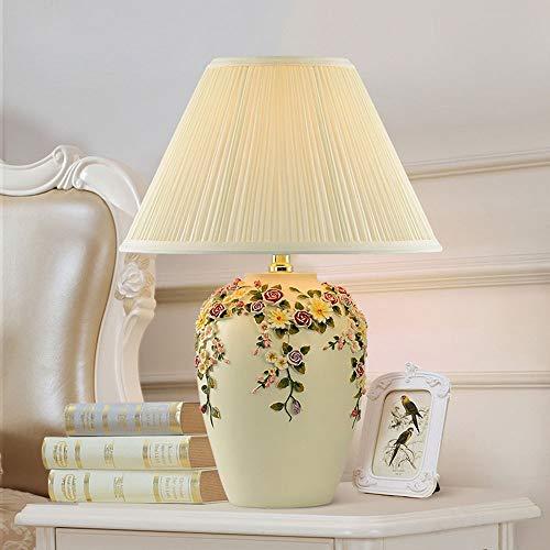 Yangmanini Minimalista Decorativa De Europa Creativa Lámpara De Escritorio LED Lámpara De Mesa Sala De Estar Pintando Mesa De Boda Decorativa Lámpara De Emergencia 1 * E27 (18 * 46cm)