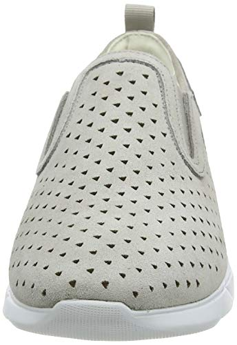 Geox D Sandal Hiver A, Zapatillas sin Cordones Mujer, Gris (Lt Grey C1010), 35 EU