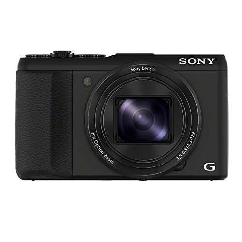 Sony DSC-HX50 Digitalkamera (20,4 Megapixel, 30-fach opt. Zoom, 7,6 cm (3 Zoll) LCD-Display, Full HD Video, WiFi) mit 24mm Sony G Weitwinkelobjektiv schwarz