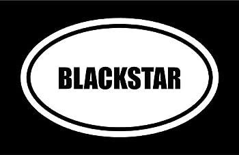 Beach Graphic Pros 6  die Cut White Vinyl Blackstar Name Oval Euro Style Decal Sticker