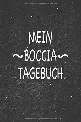 Mein Boccia Tagebuch: Wunderbar als Zubehör zum festhalten von Notizen für dein Wurfspiel