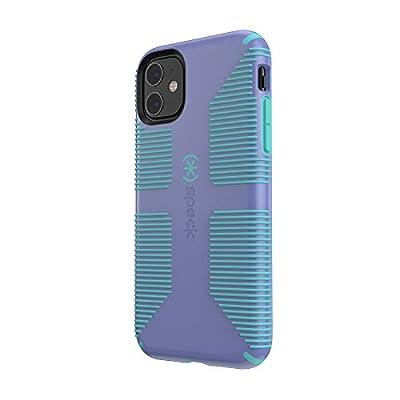 Speck CandyShell Grip iPhone 11 Case, Wisteria Purple/Mykonos Blue
