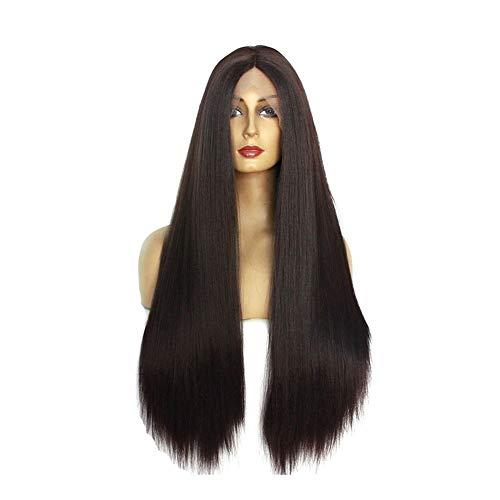 Xiang Ye La mode européenne et américaine perruque de cheveux longue ligne droite perruque Mme (Color : 22 inches)