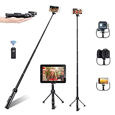 Selfie Stick, Professional 45-Inch Selfie Stick Tripod, Extendable Selfie Stick with Wireless Remote and Tripod Stand for iPhone 6 7 8 X Plus/Samsung Galaxy Note 9/S9 Plus and More by KOVIO