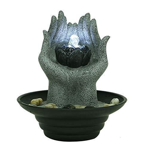 Relaxus 'Lotus Hands Indoor Water Fountain