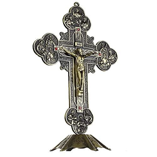 TOSSPER 21cm Romeinse hars stenen muur kruis kruisbeeld