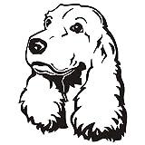 sanzangtang Cute Puppy Dog Vinyl Wall Sticker Cute Dog Head Etiqueta de la Pared Diseño para el hogar Papel Tapiz Impermeable Decoración Niños Dormitorio 84x66cm