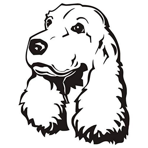 Tianpengyuanshuai schattige vinyl hond puppy muursticker schattige hond hoofd muursticker Home Design waterdicht behang kinderen decoratieve slaapkamer