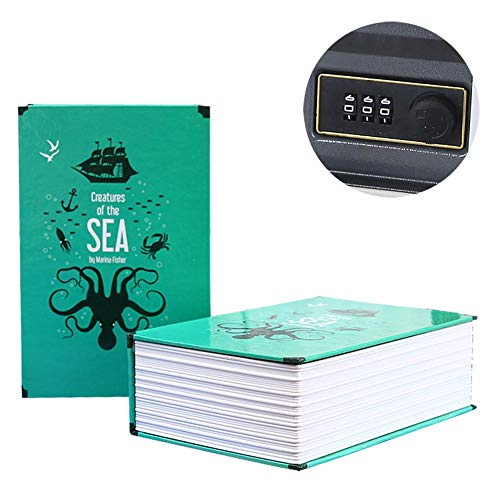True-Ying Mini Home Passwort-Buch Sicherheits-Tresor Spardose Aufbewahrungsbox Buch Passwort Box grün