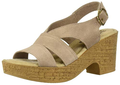 Bella Vita Women's Bella Vita Jaz-Italy slingback sandal Shoe, Almond Italian leather, 7 2W US