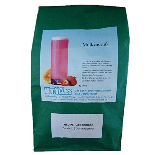 Molke Natur/Neutral 1 kg Molkepulver Wellnessdrink Eiweiß Fastenkur Badezusatz Süssmolke Molkenprotein Shake