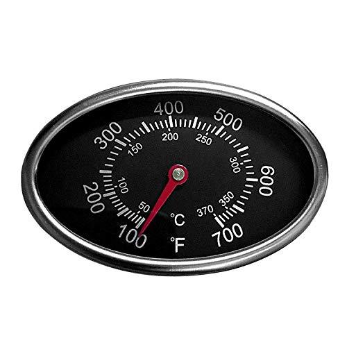 Hongso TG549(1er Pack) New Ersatz Deckel Thermometer Gas Grill Edelstahl Heat Indicator für Aussie, BBQ grillware, Brinkmann, Uniflame und andere Gas Grill Modelle