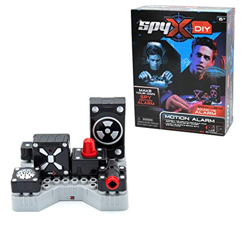 SpyX DIY Motion Alarm - Protect Your Stuff! STEM Educational Science Kit To Make Your Own Real-Working Spy Motion Sensor. Do It Yourself Electronic Spy Toy Gadget