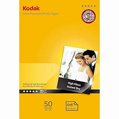 Kodak Ultra Premium Inkjet Fotopapier (50 Blatt, A6, (10 x 15 cm), 280g)