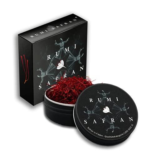 Rumi Safran 5g, Premium Safranfäden der Qualitätskategorie I - 100% reiner Safran von den Bergen Chorasans - Zwei Einzelverpackungen