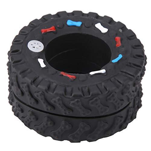 Hundespielzeug Haltbar Kauspielzeug Reifen Quietschendes Hundespielzeug Dog Chew Toy Dog Tire Dental Chew Toy für Welpen Zahnen und Hund Zahnreinigung, ø 7.5 cm