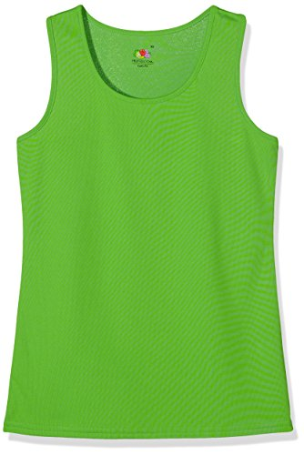 Fruit of the Loom SS130M Tank Top, Verde (Lime), 46 (Talla del Fabricante: XX-Large) para Mujer